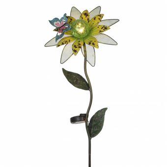 Lhéritier Du Temps Fleur Sur Tige Tuteur à Piquer Solaire Avec