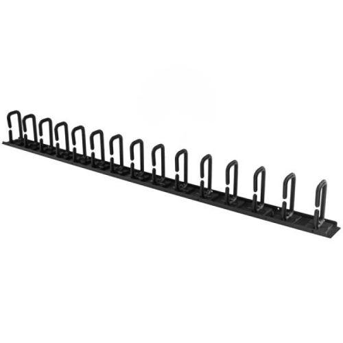 startech guide-cables 0u de 91 cm pour rack avec anneaux noir
