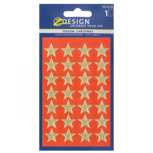 Stickers - Etoiles Moyennes Dorées
