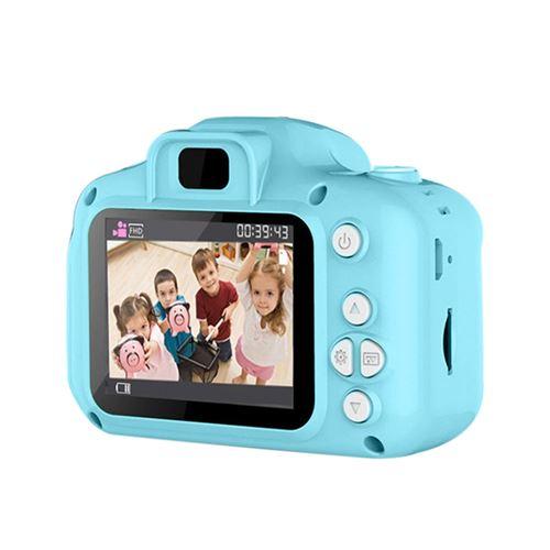 Appareil photo numérique enfants avec USB Rechargeable Bleu