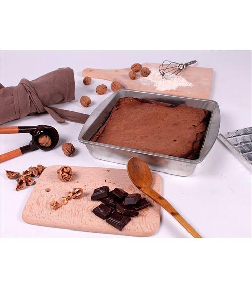 Moule à gâteaux carré en fer blanc - lot de 3