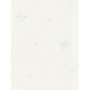 Lueur Dans Le Noir Etoiles Papier Peint Blanc Decors Et Stickers