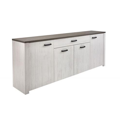 Bahut VALET 4 portes / 1 tiroir pin andersen / Chêne prata