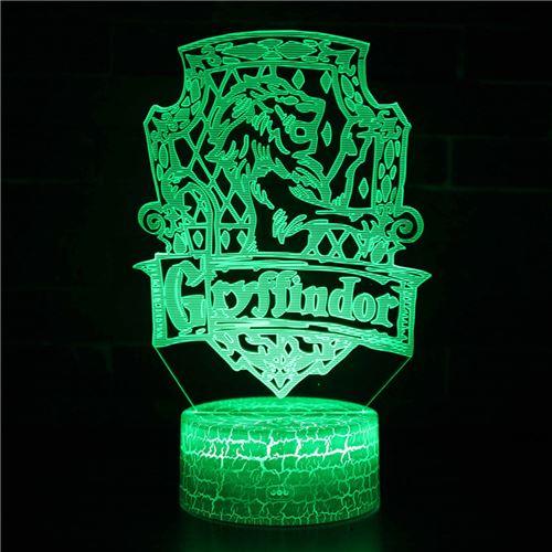 Lampe 3D Tactile Veilleuses Enfant 7 Couleurs avec Telecommande - Harry potter #252