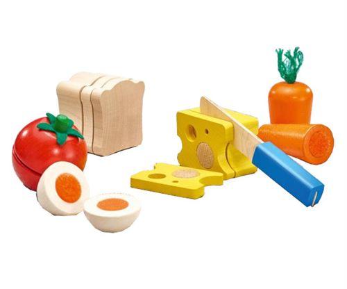 Selecta Spielzeug jouets alimentaires Pain et légumes junior en bois 6 pièces