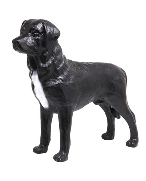 Statue CHIEN labrador noir - 90 cm