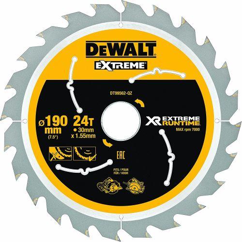DeWalt XR Extreme Runtime Lame de scie circulaire scie circulaire à main, 1 pièce, 190/30 mm 24 WZ/FZ, dt99562 de QZ