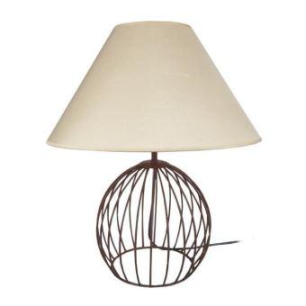 Ball Et Acier Cm Marron A Poser Cérusé 45x45x44 Taupe Lampe JlFK1cT