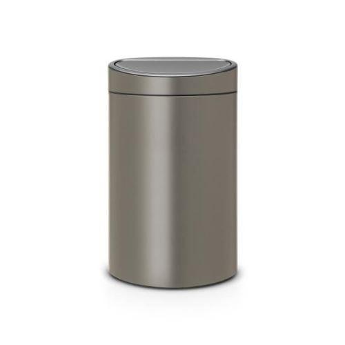 Brabantia poubelle touch bin - 40l - platinum 114908