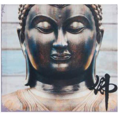 Cadre carré toile Bouddha 40 cm