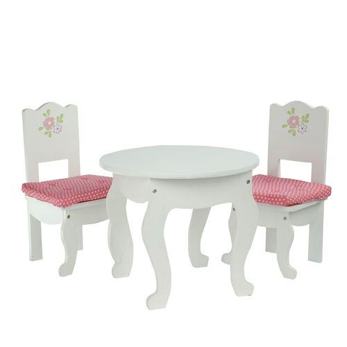 Olivias mobilier table 2 chaises bois poupée poupon jeux d'imitation TD-0208A
