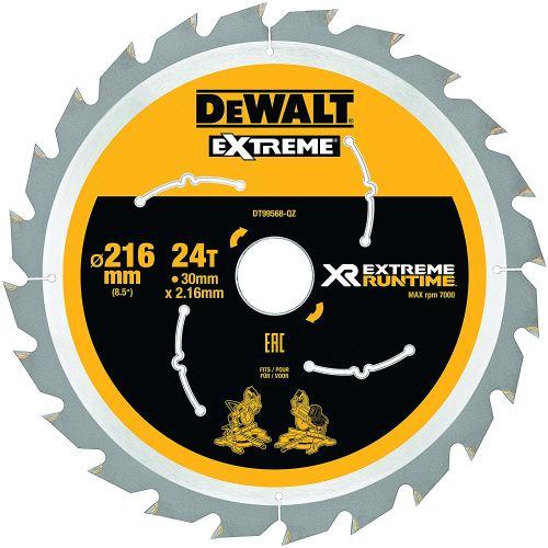 DeWalt XR Extreme Runtime Lame de scie circulaire statique, 1 pièce, 216/30 mm 24 WZ/FZ, dt99568 de QZ