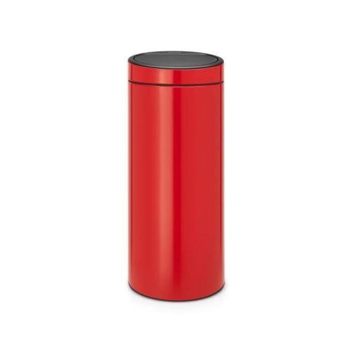 Brabantia poubelle touch bin new - 30l - rouge 115189