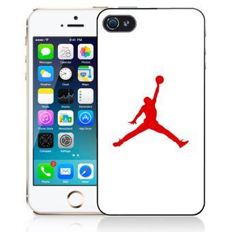 Coque pour iPhone SE jordan basketball logo blanc