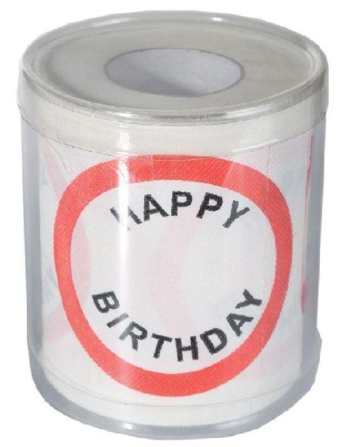 Papier toilette Happy Birthday dans boîte PVC