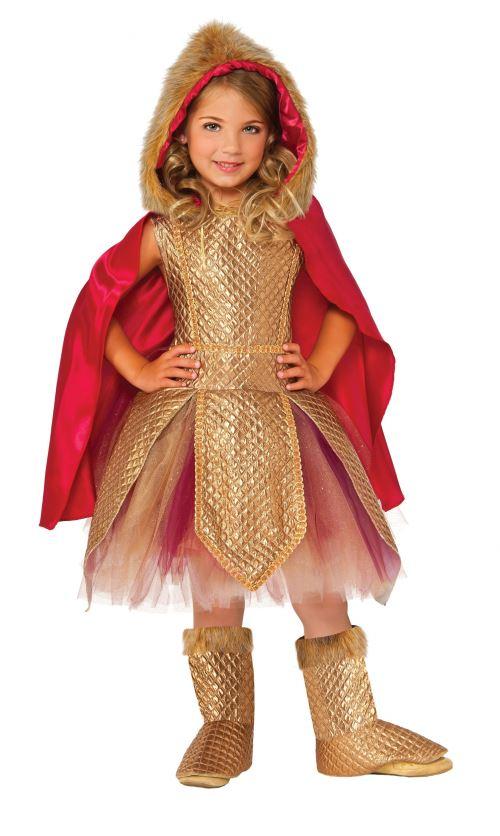 Rubie's costume d'enfant Warrior Princess or/rouge