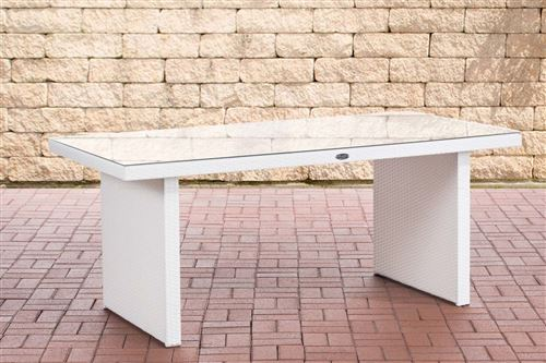 Table de Jardin Avignon , Blanc /180 cm