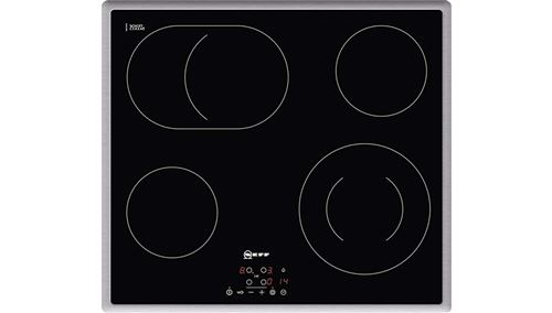 Neff N 50 T18B42N2 - Vitrocéramique - 4 plaques de cuisson - Niche - largeur : 56 cm - profondeur : 49 cm - noir - avec garnitures en acier inoxydable