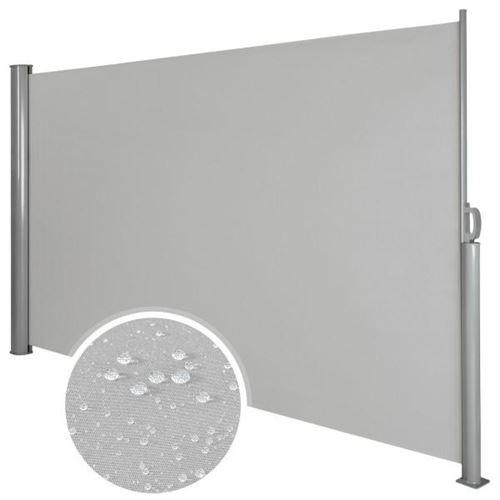 Auvent store latéral brise-vue abri soleil aluminium rétractable 180 x 300 cm gris