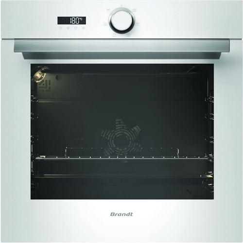 Brandt BXC6332W - Four - intégrable - niche - largeur : 56 cm - profondeur : 55 cm - hauteur : 58.5 cm - avec système auto-nettoyant - blanc