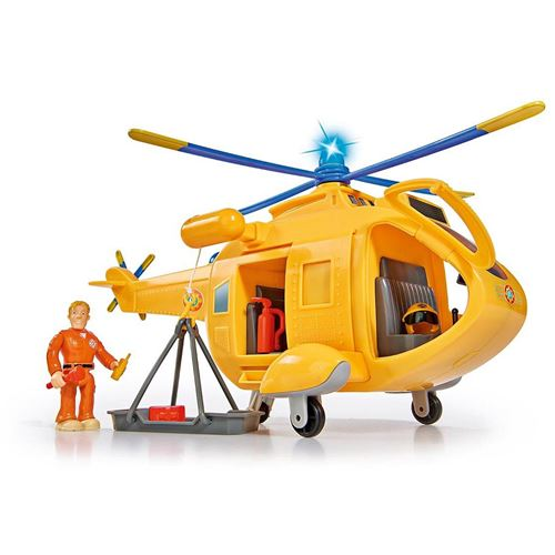 Simba Toys 109251002 Pompier Sam Helicopter Wallaby II avec une figure