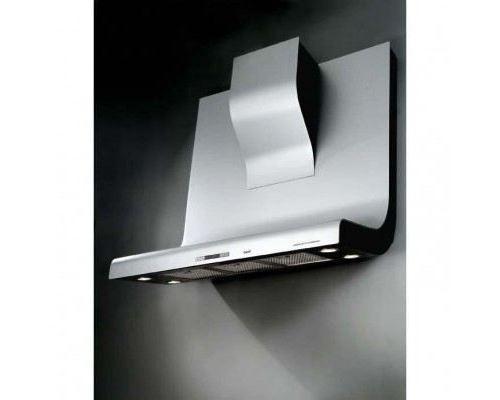 Broan HD 300 ALU DESIGN PORSCHE - Hotte - hotte décorative - largeur : 90 cm - profondeur : 50 cm - evacuation & recyclage - aluminium