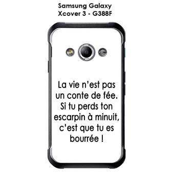 Coque Samsung Galaxy Xcover 3 - G388F design Citation La vie n'est pas Texte noir fond blanc