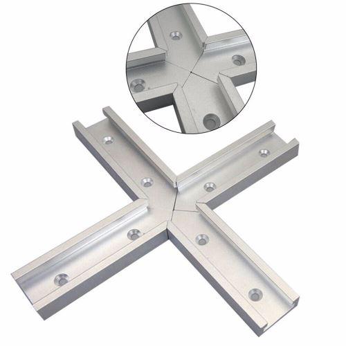 Tableau croisé T-piste DIY fente Connecteur 30 Type Chute en alliage d'aluminium Mitre 4Pcs @FHH90415003