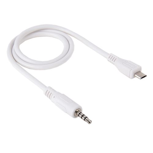 (#1) 3.5mm Male to Micro USB Male Audio AUX Cable, Length: 50cm
