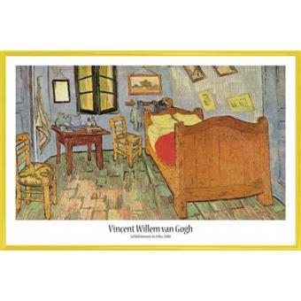 Poster Encadré: Vincent Van Gogh   La Chambre À Coucher À Arles, 1889  (61x91 Cm), Cadre Plastique, Jaune, Poster/affiche Encadré, Top Prix | Fnac