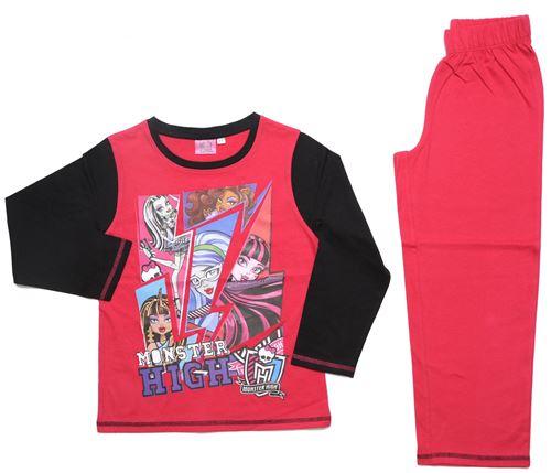 Monster High pyjama fille en coton rose