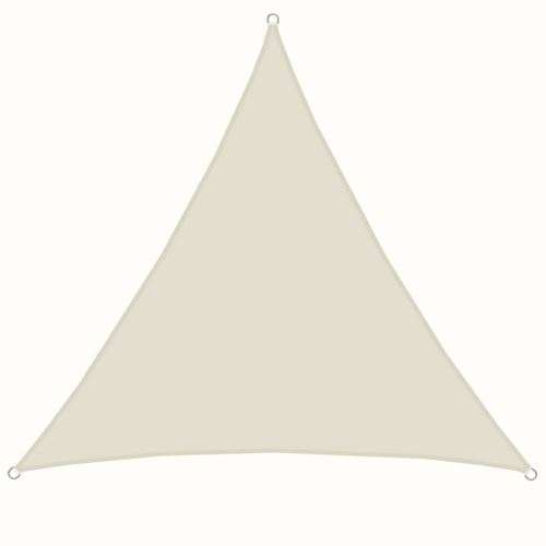 AMANKA Voile d'ombrage 4x4x4m en polyester hydrofuge protection du soleil UPF50+ toile triangulaire