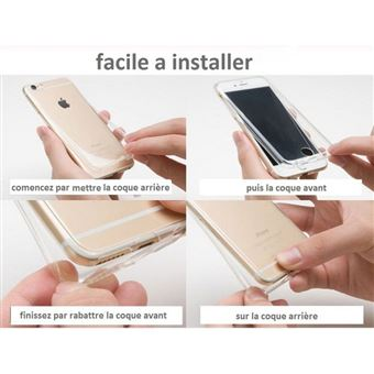 Coque Silicone Integrale TPU Full Protection 360 pour Apple Iphone 6 6S