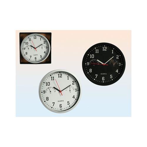 Horloge 23 Cm Avec Hygrometre + Thermometre - 69/1028
