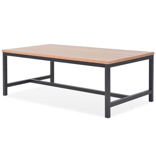 vidaXL Table basse Frêne 100 x 55 x 36 cm