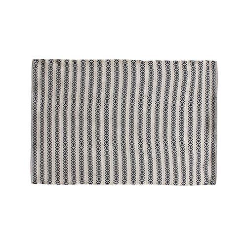 Tapis rectangle beige motifs noir 120x170 cm