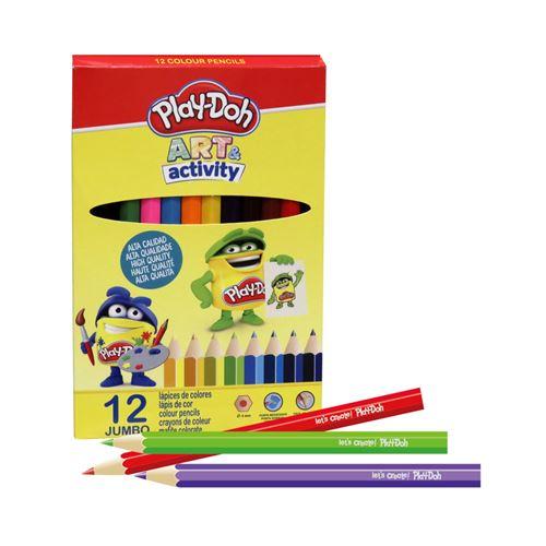 Coloriage : 12 Crayons De Couleur Jumbo - PlayDoh Art & Activity - Mine 4mm