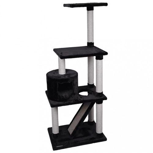 Arbre a chat FORZA noir. 60 x 40 x 151.5 cm de hauteur.
