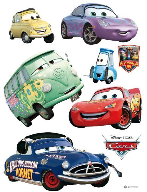 Stickers géant Doc Hudson & voiture Cars Disney
