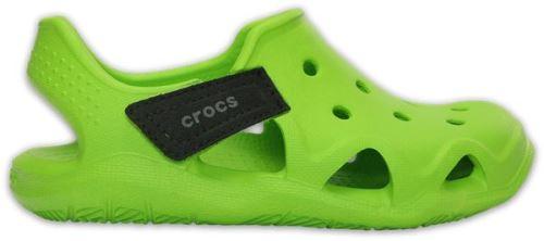 Crocs enfants swiftwater wave sabots <strong>chaussures</strong> sandales en volt vert 204021 395