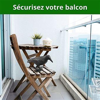 Hillfield Lot de 2 corbeaux anti-pigeons Noir 38 cm