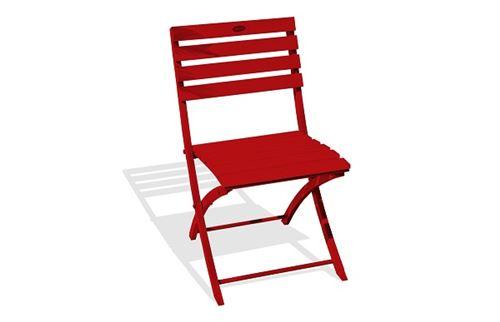 Chaise pliante marius en aluminium rouge 3002 alumob