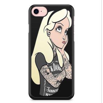 Coque iPhone 7 et iPhone 8 Alice Au pays des merveilles in wonderland Disney Tattoo Punk Tatouages