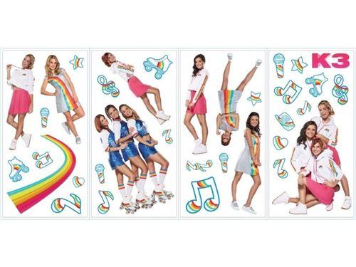 Studio 100 stickers muraux K3 musique 34 stickers