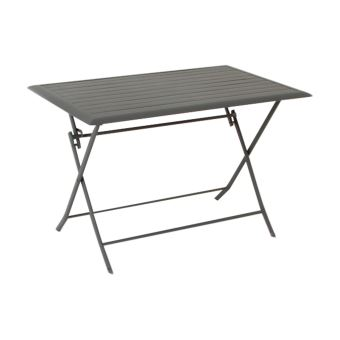 Table pliante rectangulaire Azua - 4 Places - Ardoise