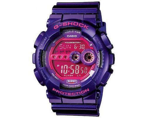 Casio G SHOCK GD 100SC 6 Montre Violette Montre Homme