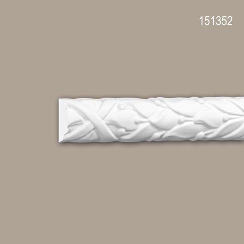 Cimaise 151352 Profhome Moulure décorative style Rococo-Baroque blanc 2 m