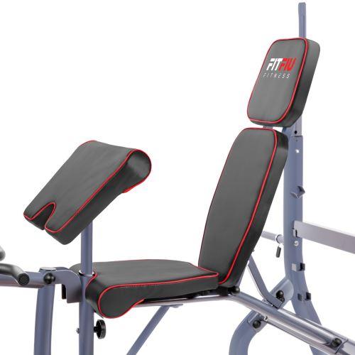 Banc De Musculation Multifonction Réglable Avec Haltères Fitfiu