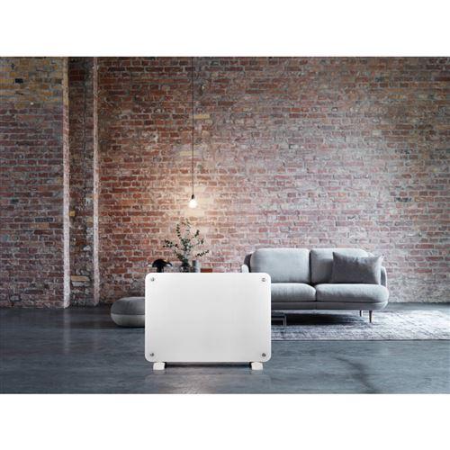 radiateur mobile haverland ha-osyris-20 radiateur en verre blanc 2000w - option mural ou portable design - détecteur automatique d´ouverture de fenêtres - programmation journalière