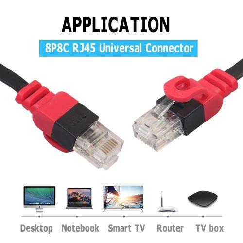Câble Ethernet plat CAT6 réseau fil LAN RJ45 Câble 10Gbps pour le routeur PC